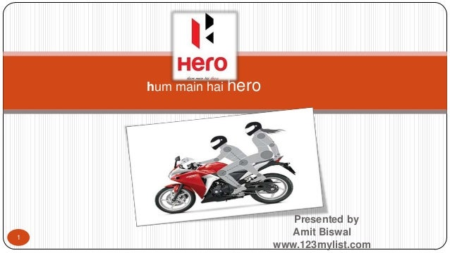 A presentation on Hero MotoCorp