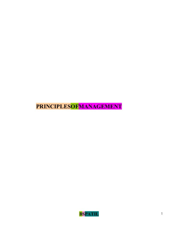 Principles of management book @ bec doms bagalkot mba