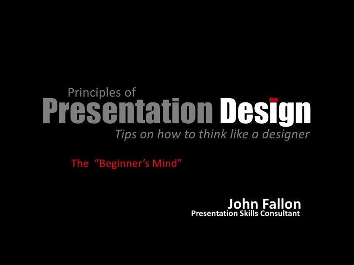 Presentation Design Tips Presentation Design Tips