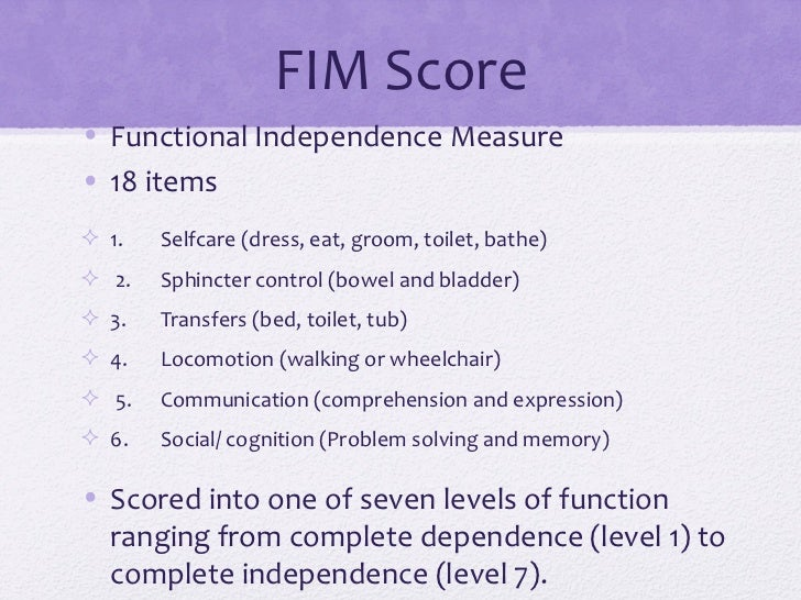 functional independence measure scoring guidelines