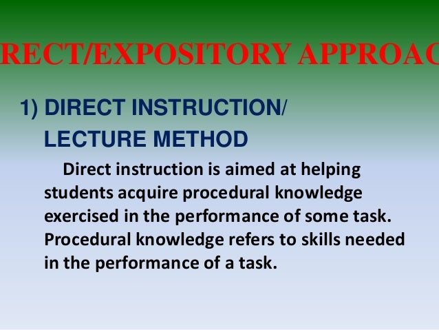 Collaborative Teaching Methodologies ~ Image gallery expository approach