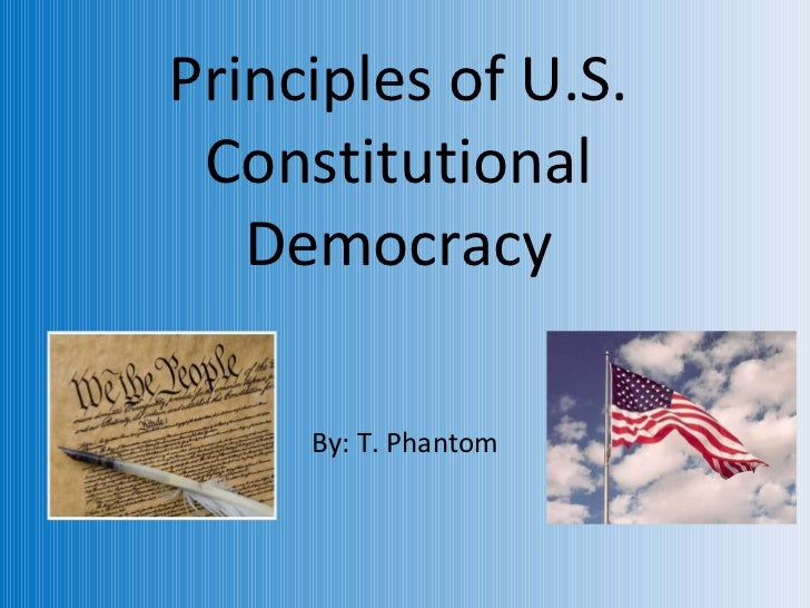 Principles of US Constitutions
