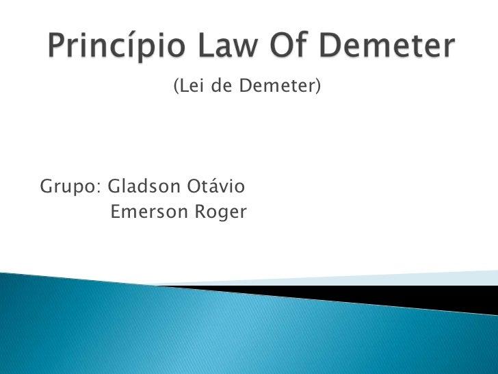Princípio law of demeter