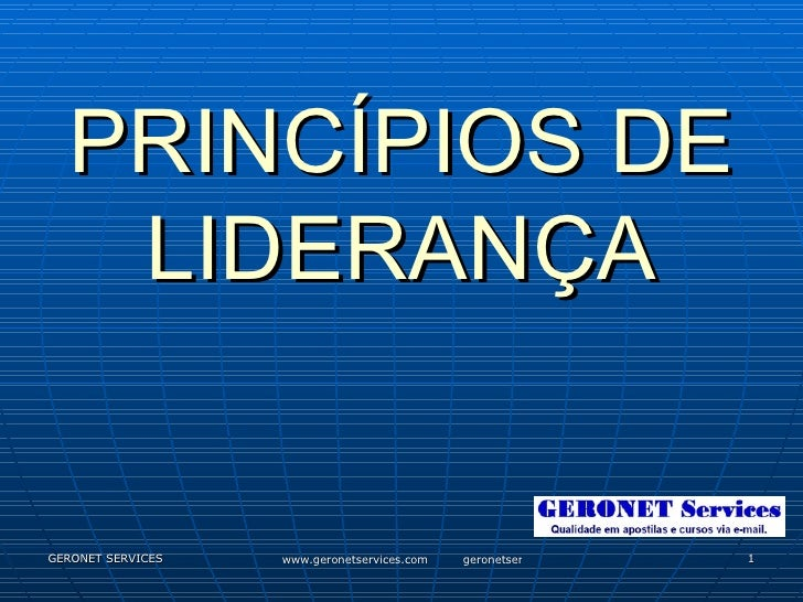 PrincíPios De LiderançA