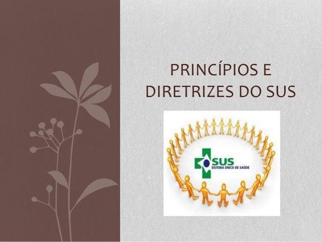 PRINCÍPIOS EDIRETRIZES DO SUS