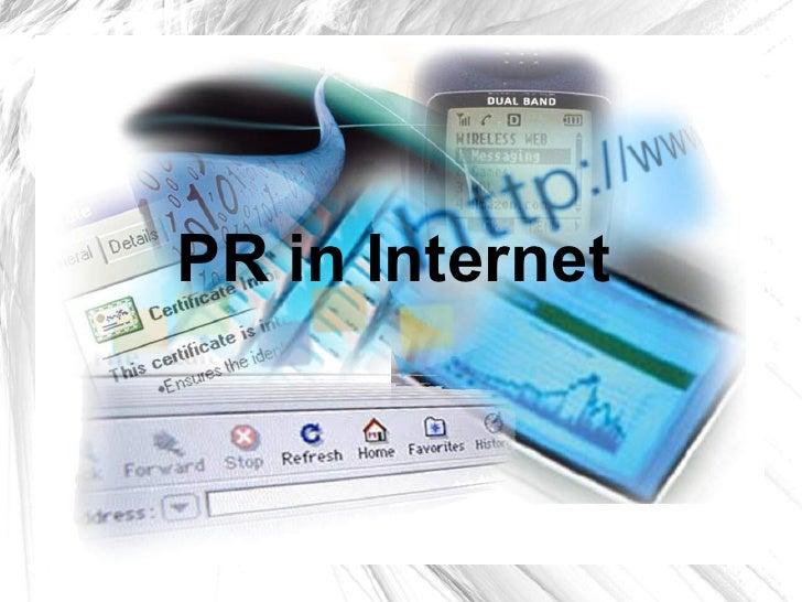 PR in Internet
