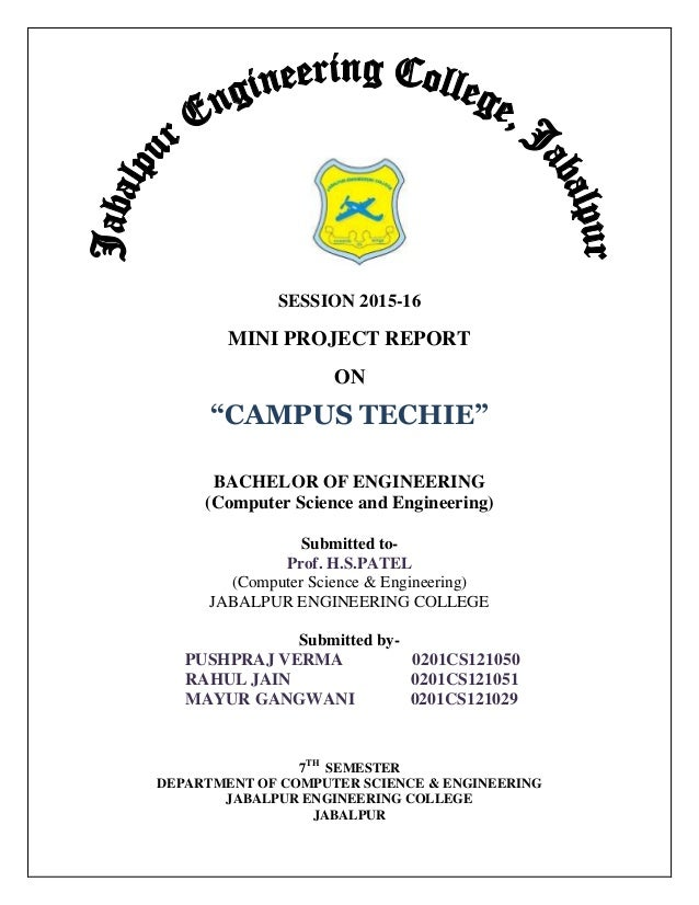 seminar report format mit B tech projects in the department of civil engineering iit kanpur report format the final project report should be in the specified standard format.