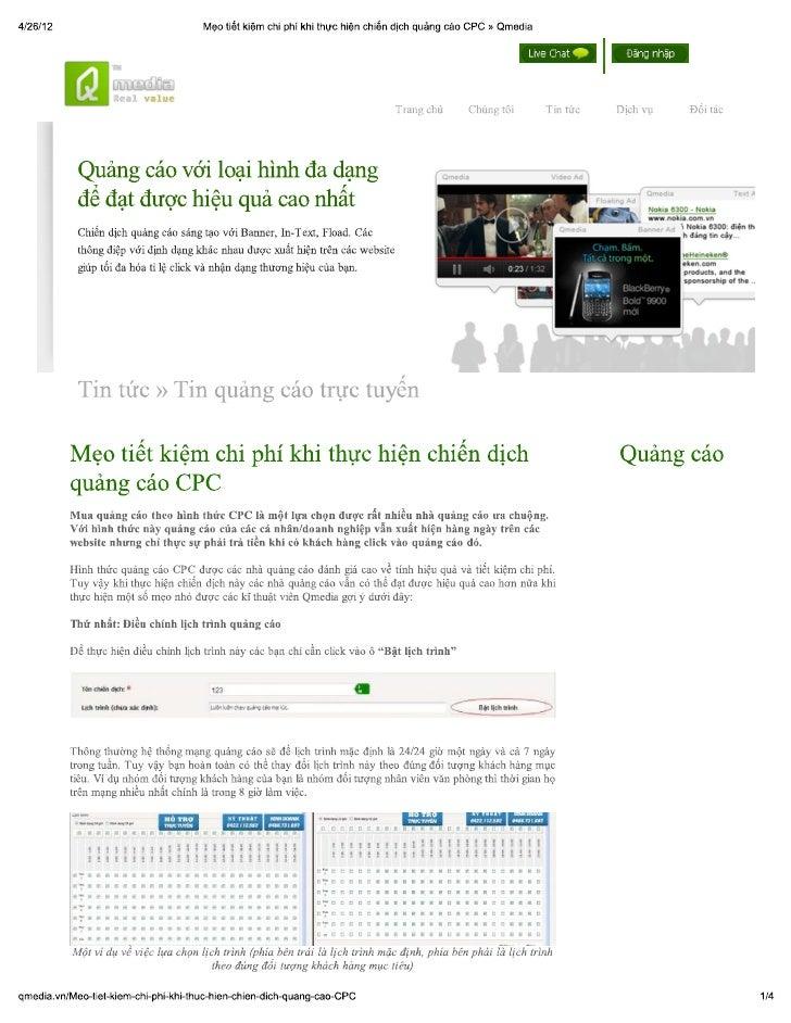 Mẹo tiết kiệm chi phí khi thực hiện chiến dịch quảng cáo cpc » qmedia