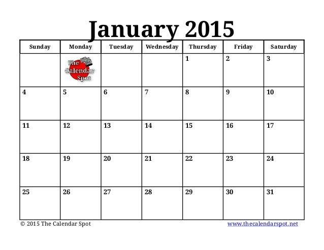 "... ""January Blank Calendar 2015 For Kids/page/2"" – Calendar 2015"