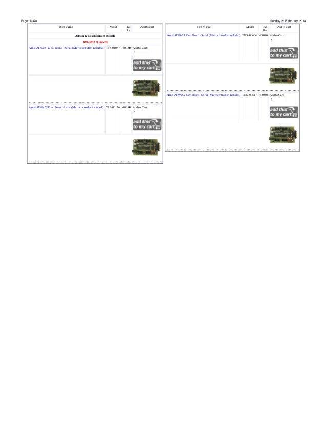 Printable price list www.onlineTPS.com