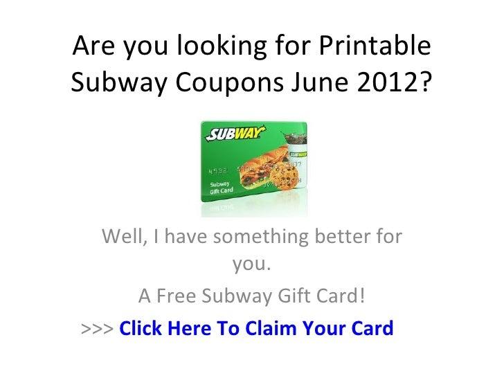 Subway coupons 2018 june