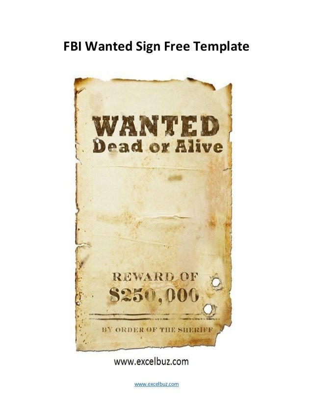Funky Wanted Poster Template Publisher Elaboration Example Resume