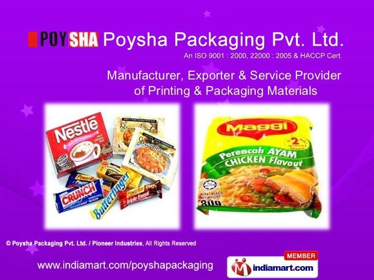 Printed Packaging Material By Pioneer Industries, Ghaziabad