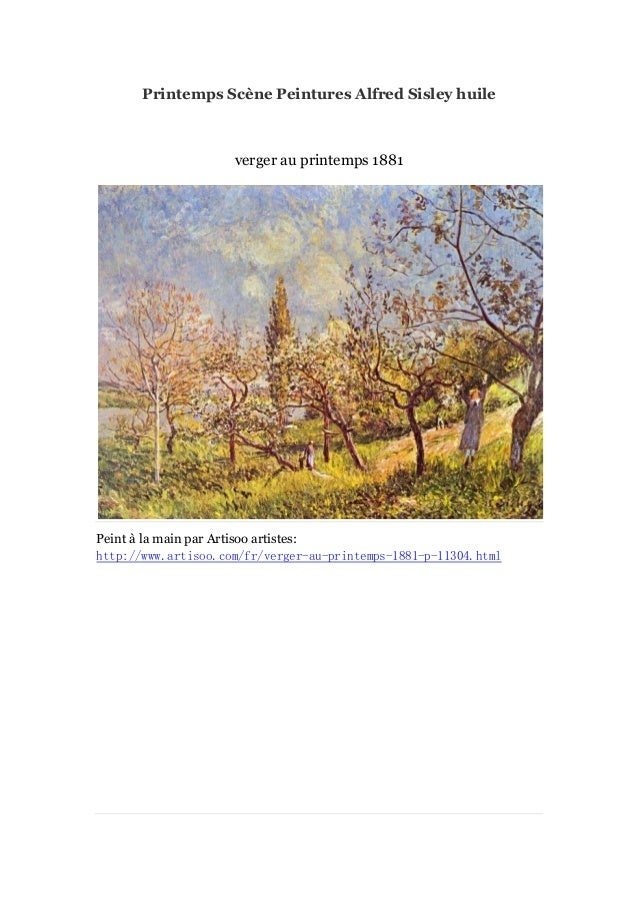 Printemps scène peintures alfred sisley huile  - artisoo