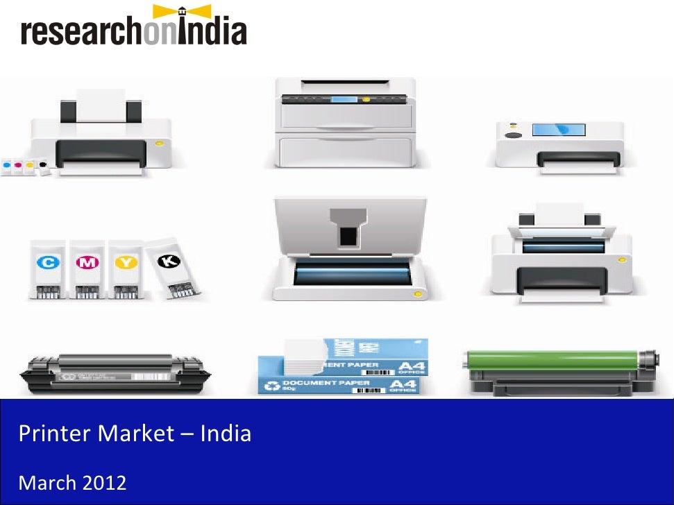 Market Research Report : Printer Market in India 2012