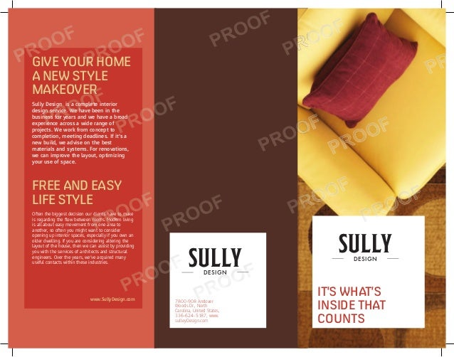 GIVE YOUR HOMEA NEW STYLEMAKEOVERSully Design is a complete interiordesign service. We have been in thebusiness for years ...