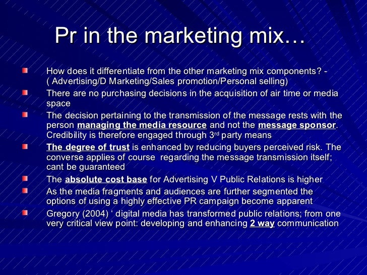 impact of pr essay The assignment for workshop one is to define public relations (pr), and examine the impact of pr on today's society the student is then asked to give his/her views.