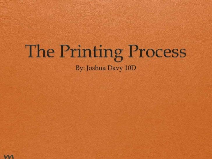 Printing processes 2