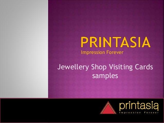 Impression Forever Jewellery Shop Visiting Cards samples