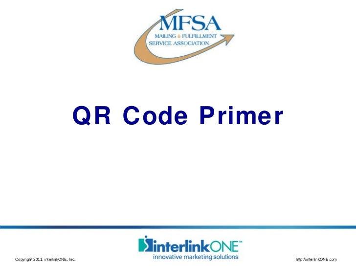 QR Code Primer