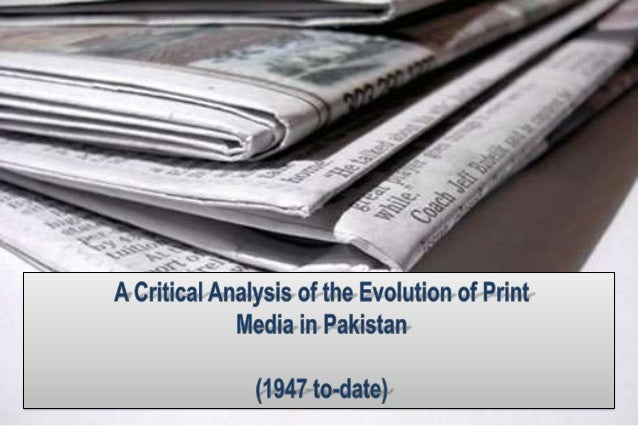 Focal points of the discussionEvolution of Print media in Pakistani societyPrinting and Publishing industry of PakistanP...