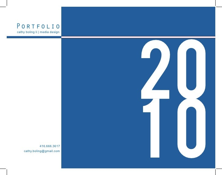 Portfolio                                      20 cathy boling li | media design                    416.666.3617     cathy...