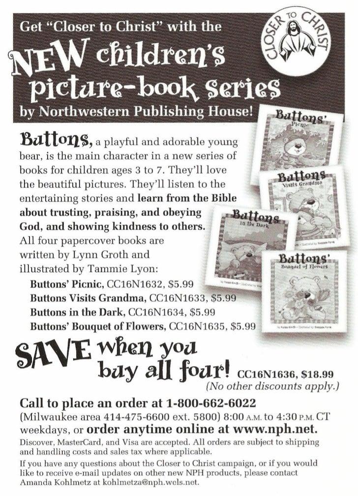 Print Scans: NPH Buttons Children's Book Flier