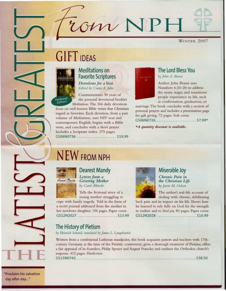 Print Scans: NPH Latest & Greatest Brochure