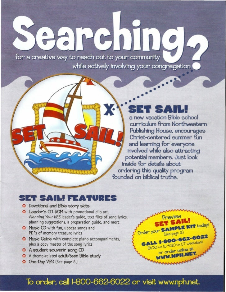 Print Scans: VBS Brochure Set Sail