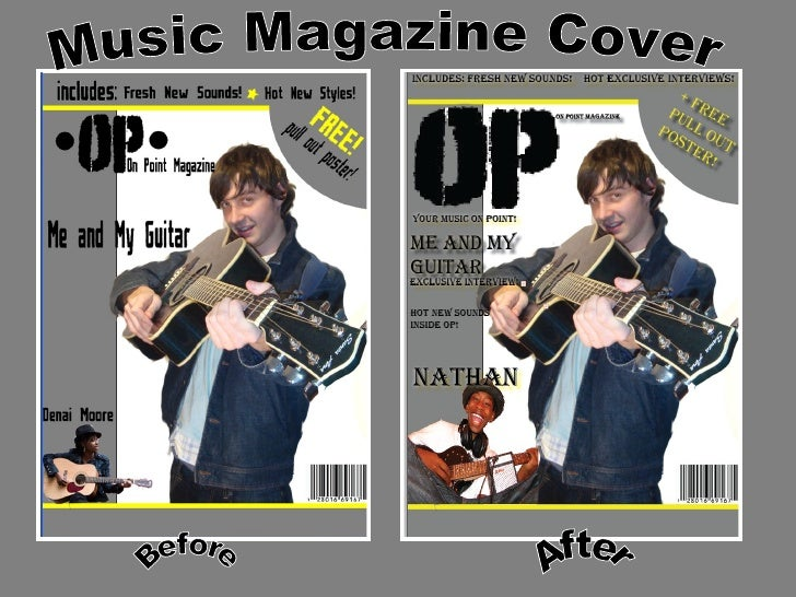 Music Magazine Cover Before After