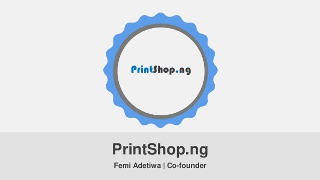 Printshop pitchdeck