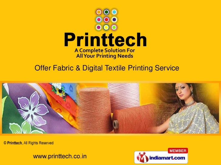 Offer Fabric & Digital Textile Printing Service<br />