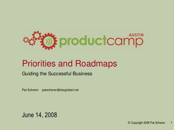 Priorities and roadmaps   product camp