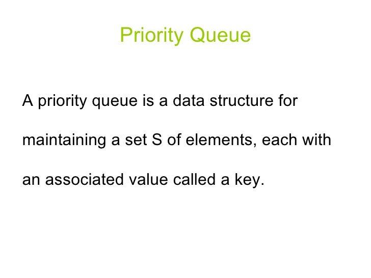 Algorithm: priority queue