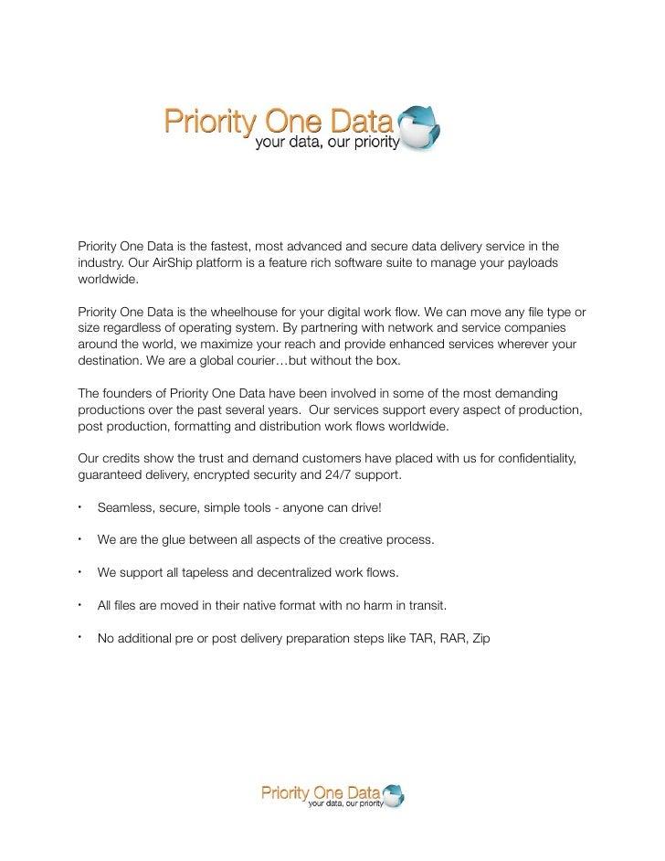 Priority One Data
