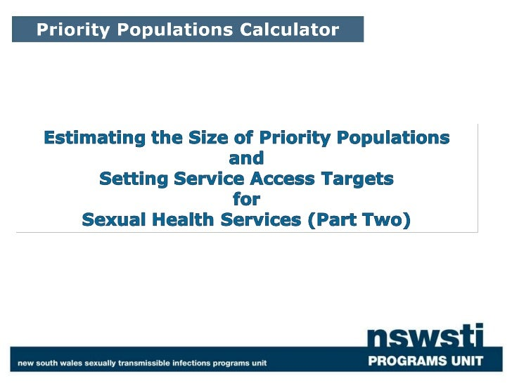Priority populations calculator part 2
