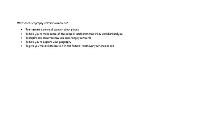 Geography coursework please help asap!?