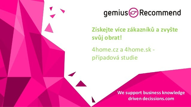 gemiusRecommend case study with 4home.cz