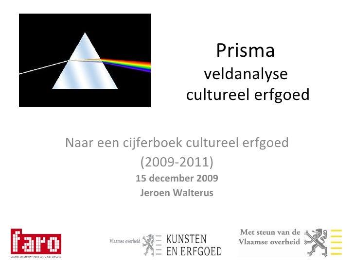20091215 Naar een cijferboek cultureel erfgoed