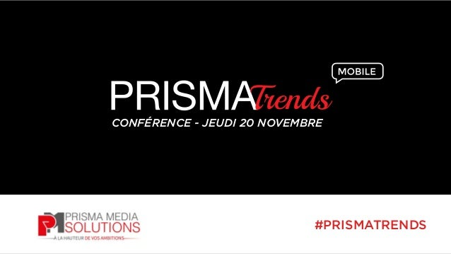 CONFÉRENCE - JEUDI 20 NOVEMBRE  #PRISMATRENDS
