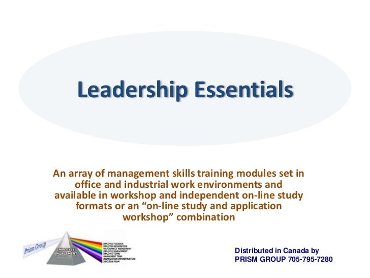 Leadership Essentials<br />An array of management skills training modules set in office and industrial work environments a...