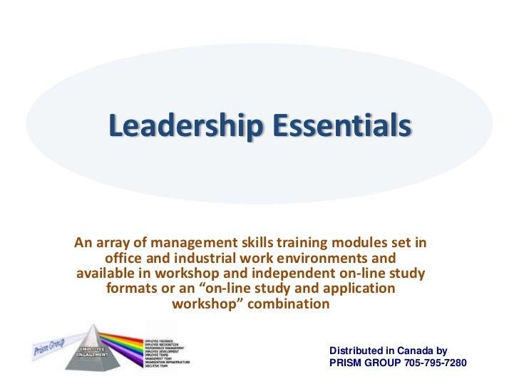Prism Group Leadership Workshops