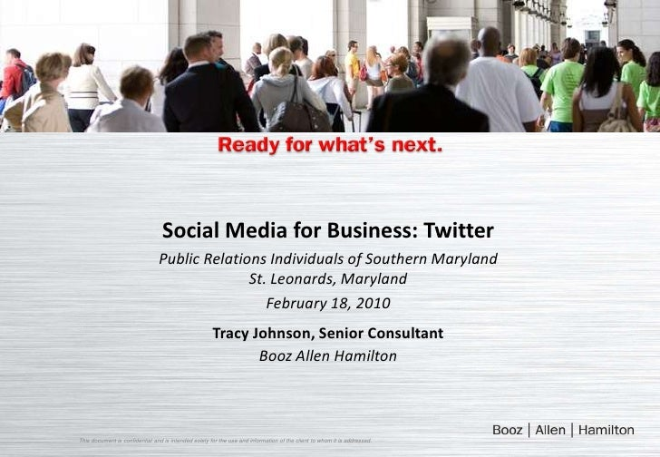 Social Media for Business: Twitter<br />Public Relations Individuals of Southern Maryland<br />St. Leonards, Maryland<br /...