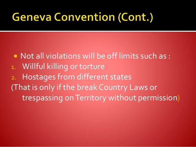 What happens when the Geneva Conventions are Violated?