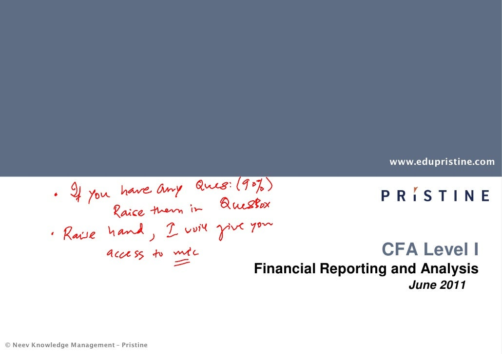 FSA tips for CFA Preparation by Pristine (Annotated)