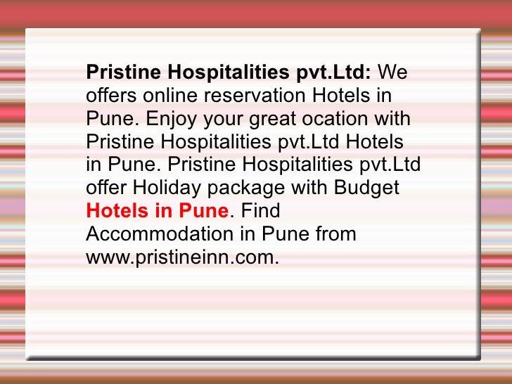 Hotels in Pune, Luxury Hotels in Pune.