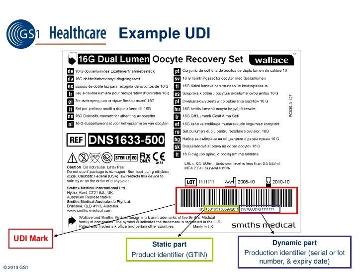 Example UDI Label