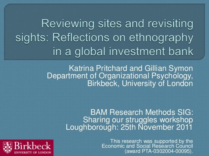Katrina Pritchard and Gillian SymonDepartment of Organizational Psychology,          Birkbeck, University of London       ...