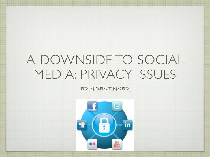 A DOWNSIDE TO SOCIAL MEDIA: PRIVACY ISSUES       ERIN DENTINGER