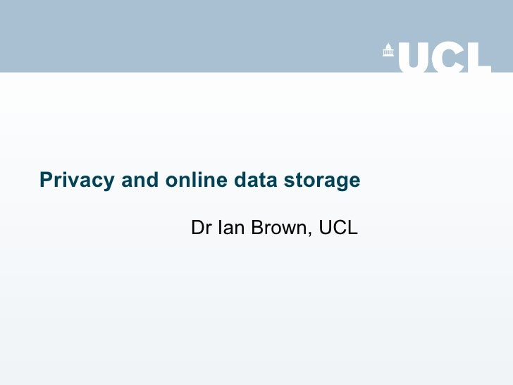 Privacy and online data storage